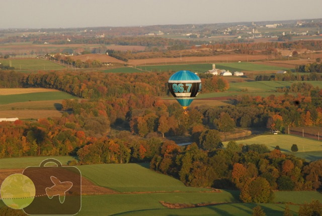Our view from the balloon 2 years ago!