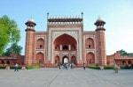 Entrance gates to Taj Mahal India