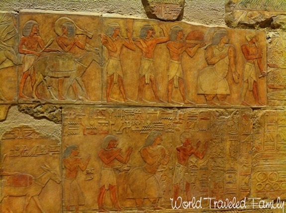 Royal Ontario Museum -ancient stone wall carvings egypt