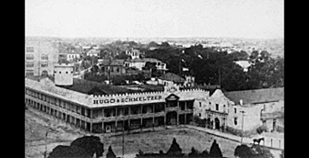 Alamo with second floor barracks