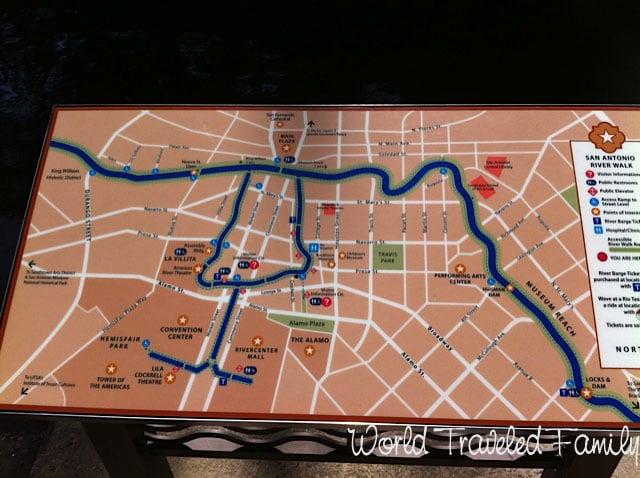 Map of San Antonio Riverwalk