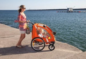 CocoonX2 Double Stroller at the beach