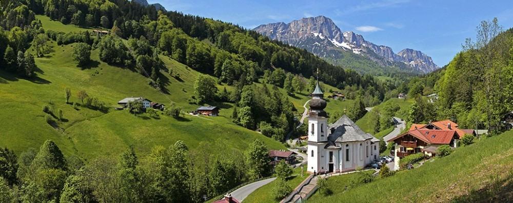 the Bavarian countryside near Berchtesgaden, Germany