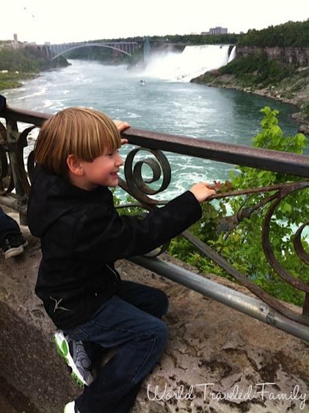 Checking out Niagara Falls