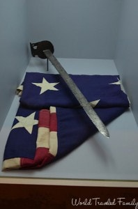 Old Fort Erie - flag and sword