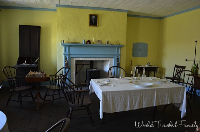 Old Fort Erie - oficers dining room