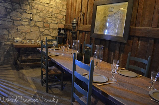 Old Fort Niagara - French Commendant's dining area
