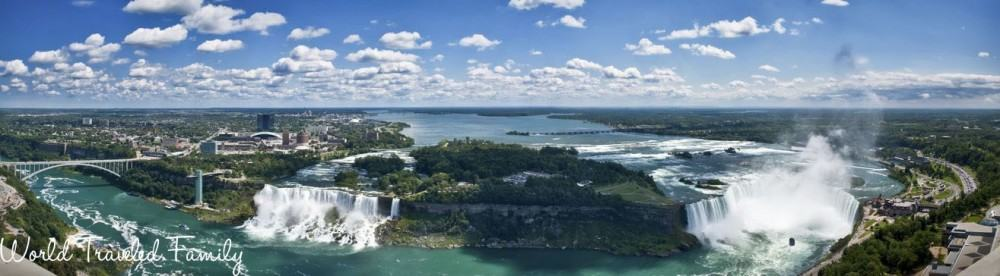 Panoramic of Niagara Falls from the Canadian side