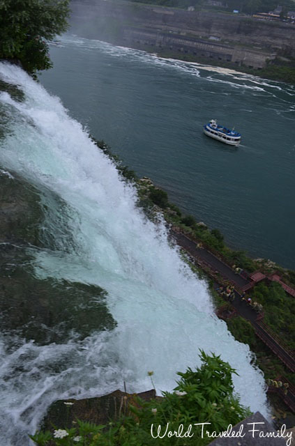 View of American falls and Cave of the Winds Tour