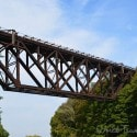 Lockport Caves - entrance bridge