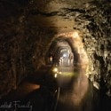 Lockport Caves - walking through the tunnels
