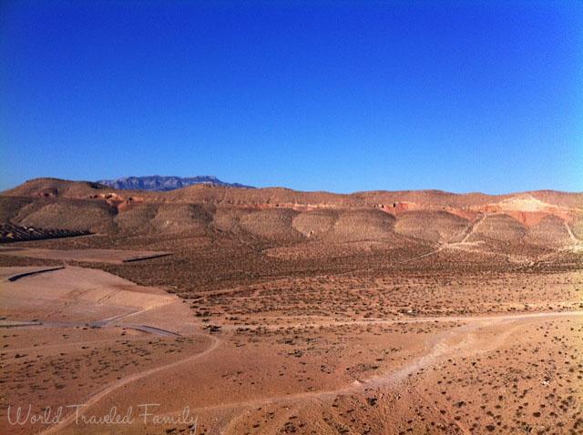 The view of the mountains - Vegas Balloon Ride