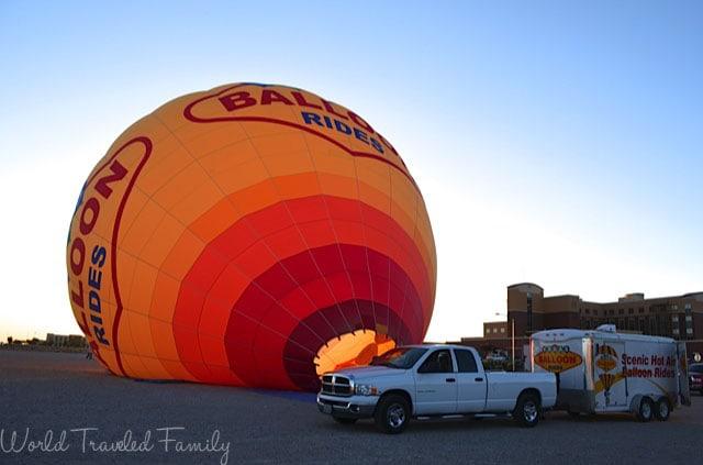 Vegas Balloon Ride - getting ready