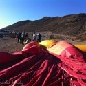 folding up the balloon - Vegas Balloon Ride