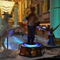 Freedom of the Seas - chees carvings promenade