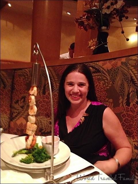Freedom of the Seas - dinner at portofinos