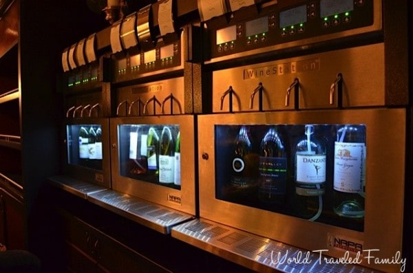 Freedom of the Seas - wine tasting system