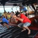 St. Thomas Kon Tiki Boat Tour - the crew getting down