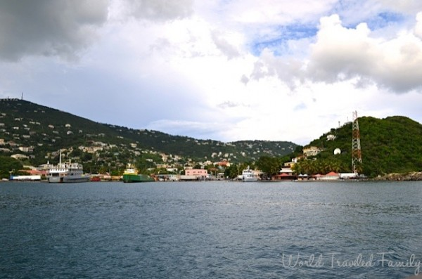 St. Thomas Kon Tiki Boat Tour - view of Charlotte Amalie Harbour