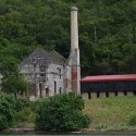 St. Thomas Kon Tiki Boat Tour - view of Head House Hassel Island