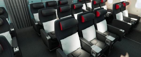 Air Canada 787 Dreamliner Premium Economy cabin