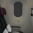 Air Canada 787 Dreamliner larger cabin windows