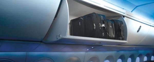 Air Canada 787 Dreamliner larger overhead bins