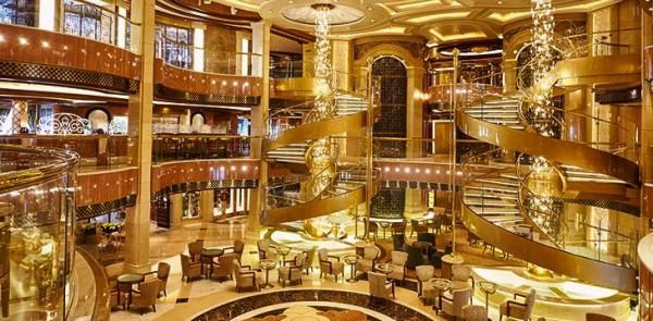 Regal Princess Cruise Ship - grand atrium