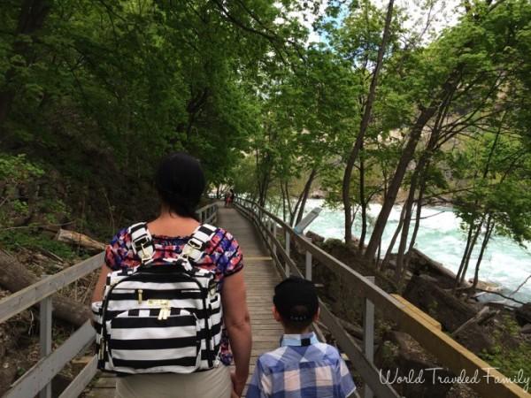 Boardwalk at White Water Walk in Niagara Falls