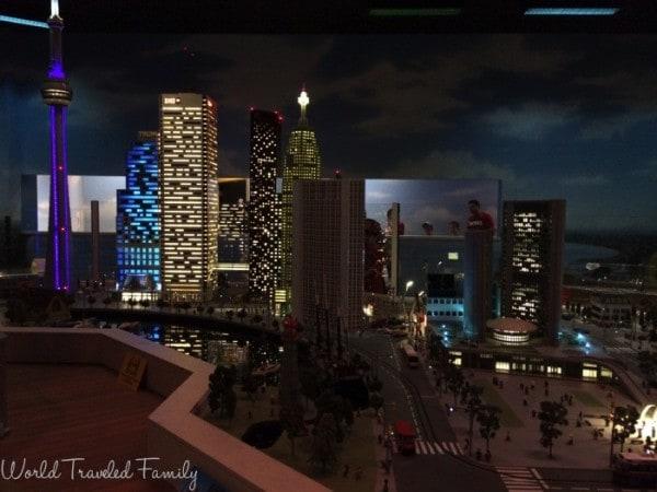 Legoland Discovery Center Toronto - Miniland At night