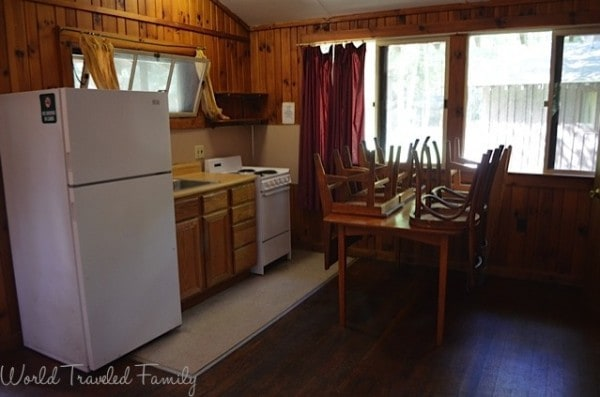 Letchworth State Park - Kitchen area A Cabin