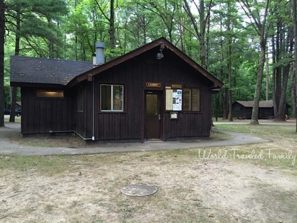 Letchworth State Park - Laundry & shower facilities A cabin area