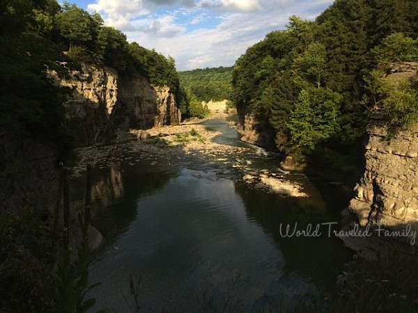 Letchworth State Park gorge overlook