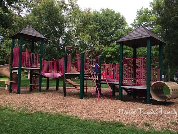 Letchworth State Park - kids play are across from lower Falls pking area