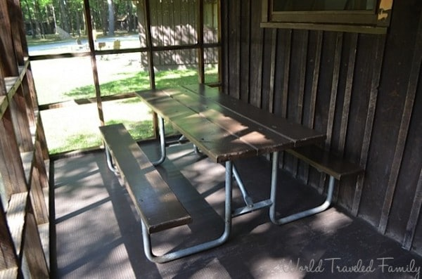 Letchworth State Park - screened in porch - Cabin a area