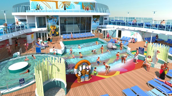 Madagascar Themed H20 Zone on Quantum of the Seas