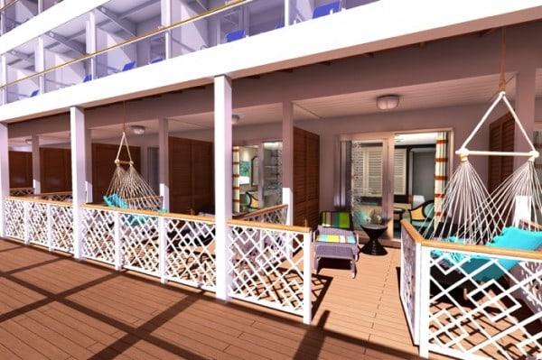 Carnival Vista Havana Cabana balcony