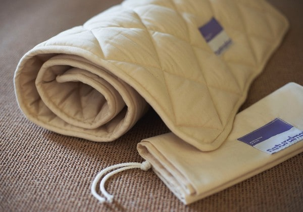natural mat crib topper
