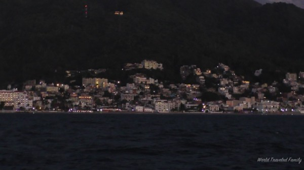 Pirate dinner cruise Puerto Vallarta - city at dusk
