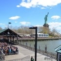 Arriving at the Statue of Liberty, NYC