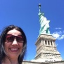 Me with the Statue of Liberty New York City