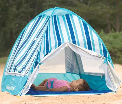 Baby is sleeping in a Sun Smarties Infant Cabana