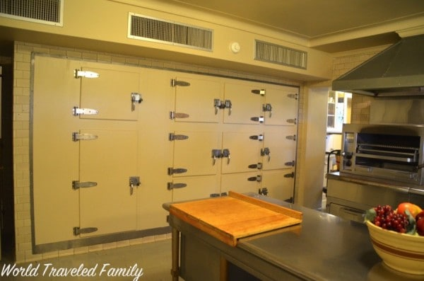 Edsel & Eleanor Ford House - wall of fridges in kitchen