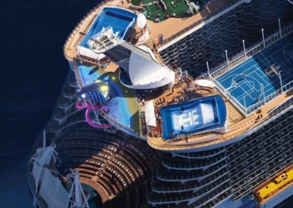 Harmony of the Seas - Abyss 100 ft slide