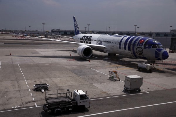 Nippon airlines Star wars R2D2 airplane