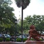 Savannah Georgia - fountain on East Bay Street