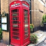 Savannah Georgia - vintage phone booth on the street