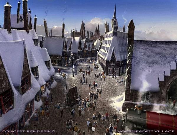 Universal Studios Hollywood  Hogsmeade Village rendering