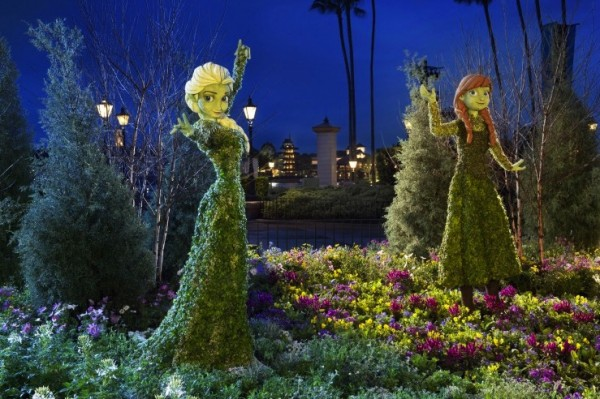 Epcot International Flower & Garden Festival - frozen topiaries