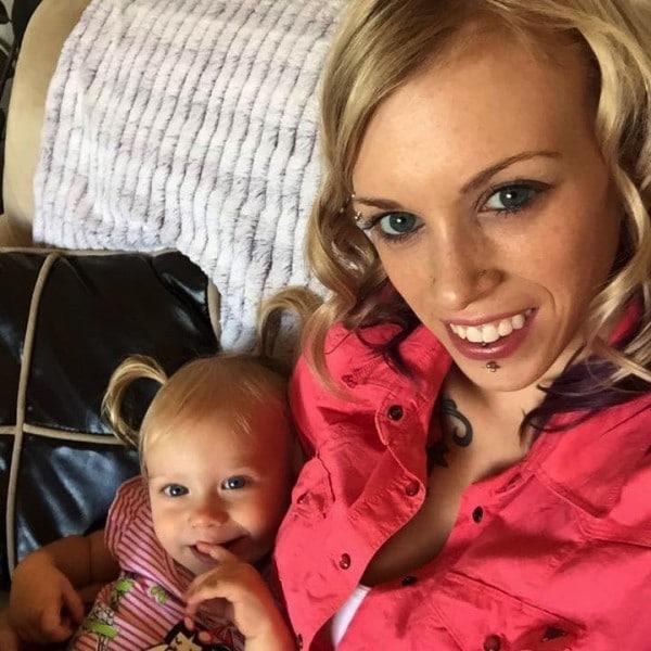 Kat Boblin with daughter Athena